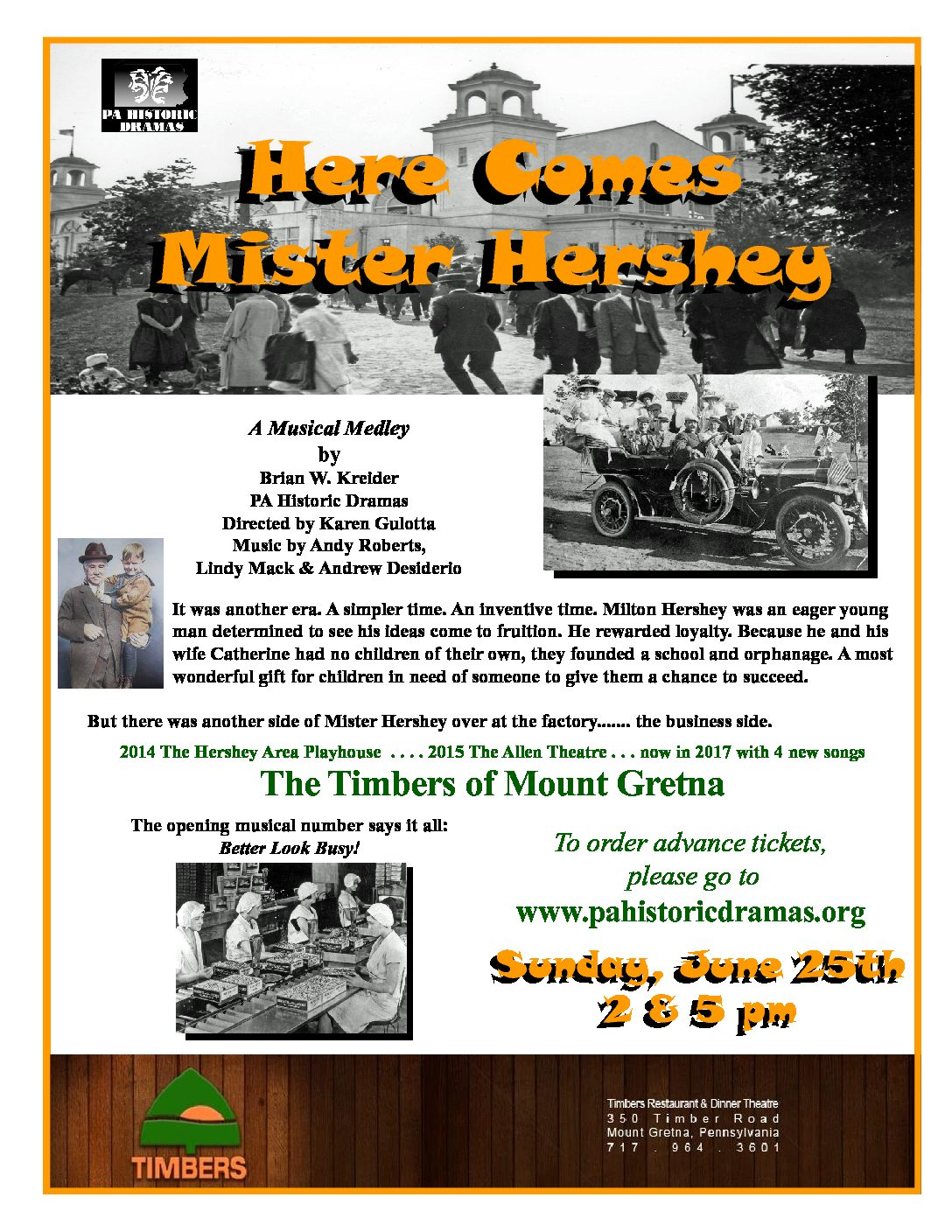 """Here Comes Mr. Hershey"" June 25th at the Timbers – Click Here for Tickets!"